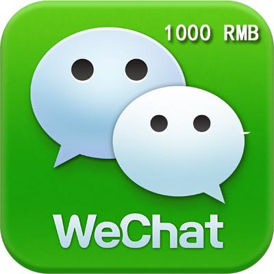 Wechat Reload/Recharge/Wallet RMB1000  Can Set Multiple